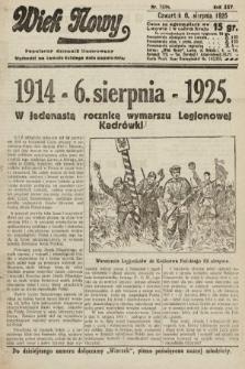 Wiek Nowy : popularny dziennik ilustrowany. 1925, nr7234