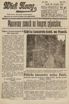 Wiek Nowy : popularny dziennik ilustrowany. 1925, nr7239