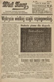 Wiek Nowy : popularny dziennik ilustrowany. 1925, nr7241