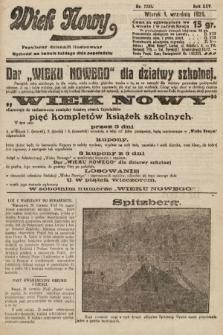 Wiek Nowy : popularny dziennik ilustrowany. 1925, nr7255