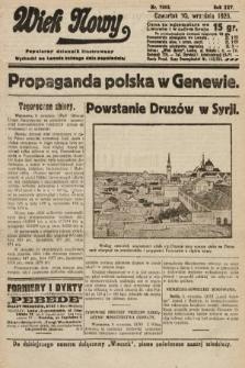 Wiek Nowy : popularny dziennik ilustrowany. 1925, nr7263