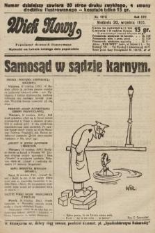 Wiek Nowy : popularny dziennik ilustrowany. 1925, nr7272