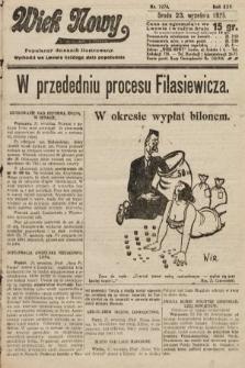 Wiek Nowy : popularny dziennik ilustrowany. 1925, nr7274