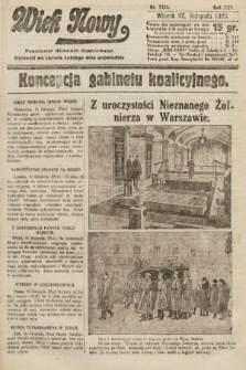 Wiek Nowy : popularny dziennik ilustrowany. 1925, nr7321
