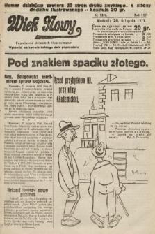 Wiek Nowy : popularny dziennik ilustrowany. 1925, nr7332