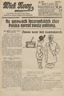 Wiek Nowy : popularny dziennik ilustrowany. 1925, nr7333