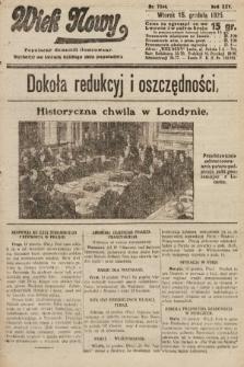 Wiek Nowy : popularny dziennik ilustrowany. 1925, nr7344