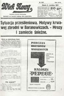 Wiek Nowy : popularny dziennik ilustrowany. 1929, nr8337