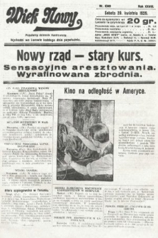 Wiek Nowy : popularny dziennik ilustrowany. 1929, nr8349