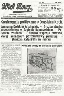 Wiek Nowy : popularny dziennik ilustrowany. 1929, nr8449