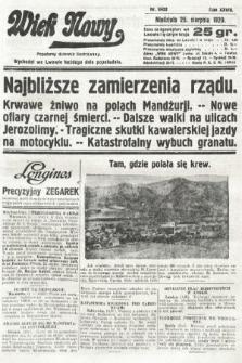 Wiek Nowy : popularny dziennik ilustrowany. 1929, nr8452
