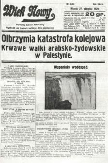 Wiek Nowy : popularny dziennik ilustrowany. 1929, nr8453