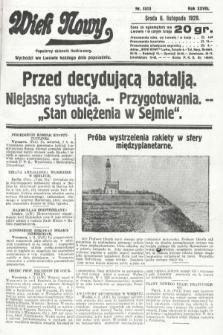 Wiek Nowy : popularny dziennik ilustrowany. 1929, nr8513