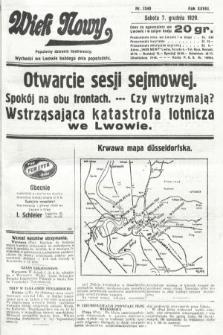 Wiek Nowy : popularny dziennik ilustrowany. 1929, nr8540