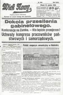 Wiek Nowy : popularny dziennik ilustrowany. 1929, nr8542