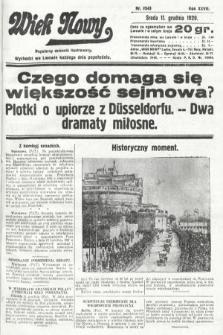 Wiek Nowy : popularny dziennik ilustrowany. 1929, nr8543