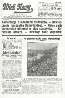 Wiek Nowy : popularny dziennik ilustrowany. 1929, nr8545
