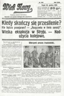Wiek Nowy : popularny dziennik ilustrowany. 1929, nr8551