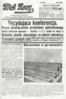 Wiek Nowy : popularny dziennik ilustrowany. 1929, nr8552