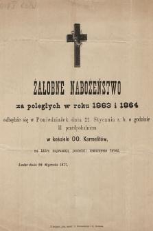 Żałobne Nabożeństwo za poległych w roku 1863 i 1864