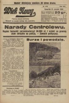 Wiek Nowy : popularny dziennik ilustrowany. 1930, nr8750