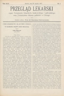 Przegląd Lekarski : Organ Towarzystw Lekarskich Krakowskiego i Galicyjskiego, oraz Towarzystwa Lekarzy Polskich w Chicago. 1907, nr4