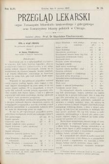 Przegląd Lekarski : Organ Towarzystw Lekarskich Krakowskiego i Galicyjskiego, oraz Towarzystwa Lekarzy Polskich w Chicago. 1907, nr23