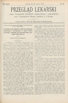 Przegląd Lekarski : Organ Towarzystw Lekarskich Krakowskiego i Galicyjskiego, oraz Towarzystwa Lekarzy Polskich w Chicago. 1907, nr26