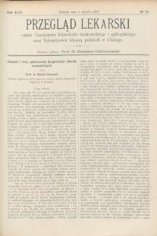 Przegląd Lekarski : Organ Towarzystw Lekarskich Krakowskiego i Galicyjskiego, oraz Towarzystwa Lekarzy Polskich w Chicago. 1907, nr31