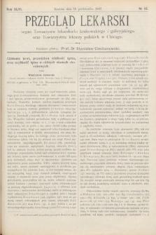 Przegląd Lekarski : Organ Towarzystw Lekarskich Krakowskiego i Galicyjskiego, oraz Towarzystwa Lekarzy Polskich w Chicago. 1907, nr42