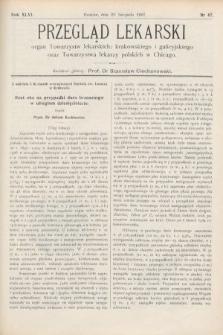 Przegląd Lekarski : Organ Towarzystw Lekarskich Krakowskiego i Galicyjskiego, oraz Towarzystwa Lekarzy Polskich w Chicago. 1907, nr47