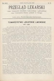 Przegląd Lekarski : Organ Towarzystw Lekarskich Krakowskiego i Galicyjskiego, oraz Towarzystwa Lekarzy Polskich w Chicago. 1907, nr52