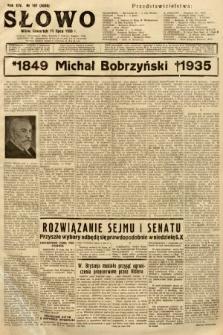 Słowo. 1935, nr187