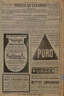 Przegląd Lekarski oraz Czasopismo Lekarskie : organ urzędowy Towarzystwa Lekarskiego Krakowskiego i Galicyjskiego [...]. 1910 [całość]