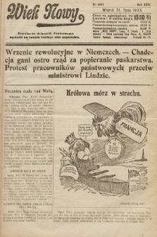 Wiek Nowy : popularny dziennik ilustrowany. 1923, nr6631