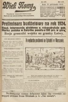 Wiek Nowy : popularny dziennik ilustrowany. 1923, nr6707