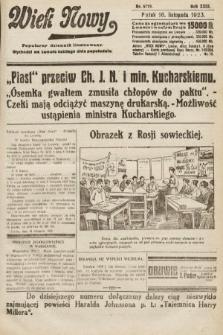 Wiek Nowy : popularny dziennik ilustrowany. 1923, nr6719