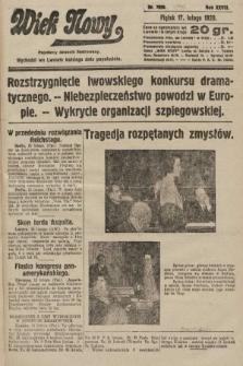 Wiek Nowy : popularny dziennik ilustrowany. 1928, nr7996