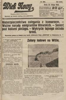 Wiek Nowy : popularny dziennik ilustrowany. 1928, nr8000