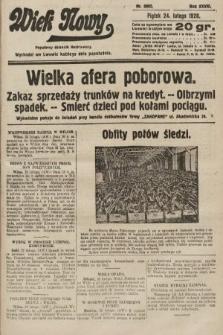 Wiek Nowy : popularny dziennik ilustrowany. 1928, nr8002
