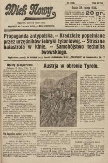 Wiek Nowy : popularny dziennik ilustrowany. 1928, nr8006