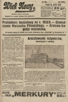 Wiek Nowy : popularny dziennik ilustrowany. 1928, nr8020