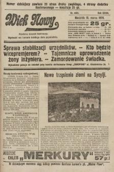 Wiek Nowy : popularny dziennik ilustrowany. 1928, nr8022