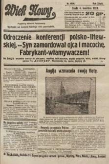 Wiek Nowy : popularny dziennik ilustrowany. 1928, nr8036