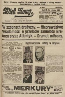 Wiek Nowy : popularny dziennik ilustrowany. 1928, nr8045