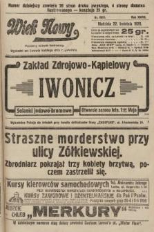 Wiek Nowy : popularny dziennik ilustrowany. 1928, nr8051