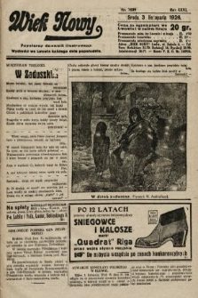 Wiek Nowy : popularny dziennik ilustrowany. 1926, nr7609