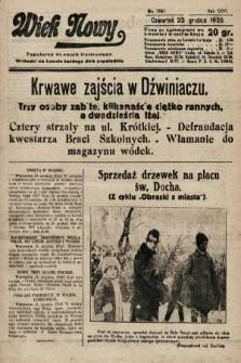 Wiek Nowy : popularny dziennik ilustrowany. 1926, nr7651