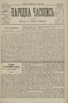 Народна Часопись : додаток до Ґазети Львівскої. 1907, ч.112