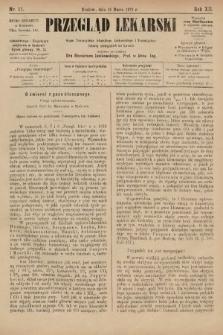 Przegląd Lekarski : organ Towarzystwa Lekarskiego Krakowskiego i Towarzystwa Lekarzy Galicyjskich we Lwowie. 1873, nr11